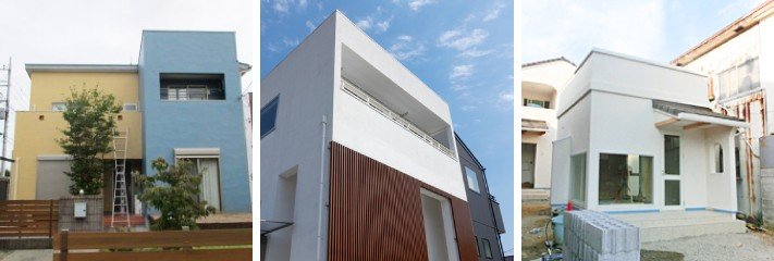 パラペットのある屋根の外観デザイン