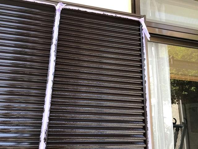 所沢市 西狭山ケ丘 付帯部塗装 雨戸塗装