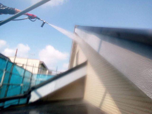 所沢市東所沢 屋根葺き替え、外壁塗装 高圧洗浄作業 (8)