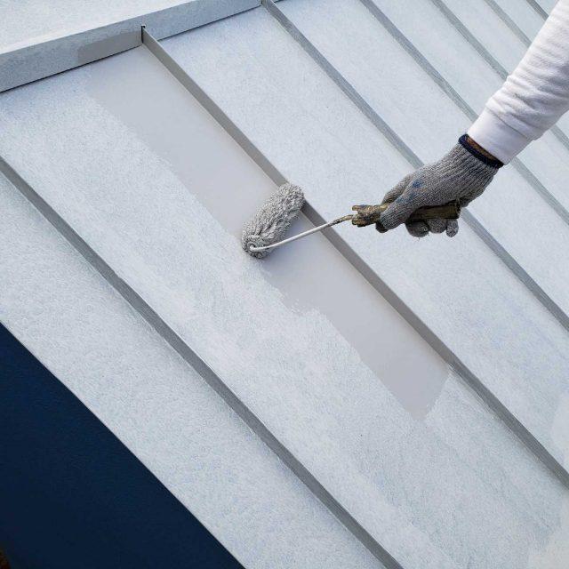 所沢市若狭 フッ素樹脂塗料 屋根塗装作業 (8)