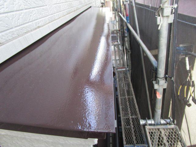 所沢市 西狭山ケ丘 付帯部塗装 雨戸、霧除け、エアコン室外機ホースまき直し (10)