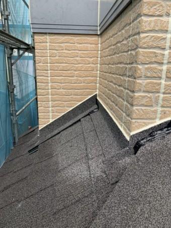 所沢市東所沢 屋根カバー、外壁塗装 軒下、縦目地のシーリング工事 (7)