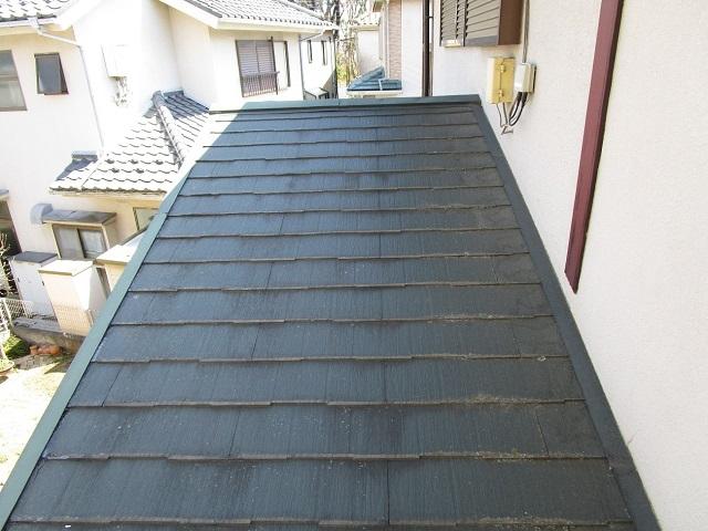 所沢市若狭 屋根葺き替え・カバー工事 現場調査 スレート屋根 下屋根