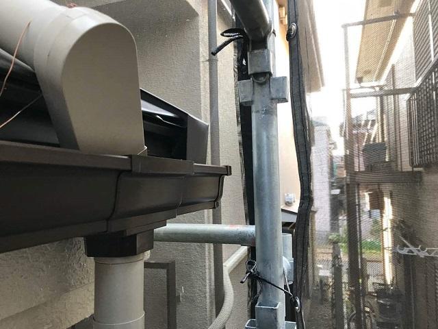 入間市東藤沢 雨樋交換 集水器取付
