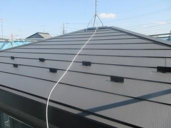 狭山市笹井 屋根カバー、葺き替え工事 外壁塗装 スーパーガルテクト施工後