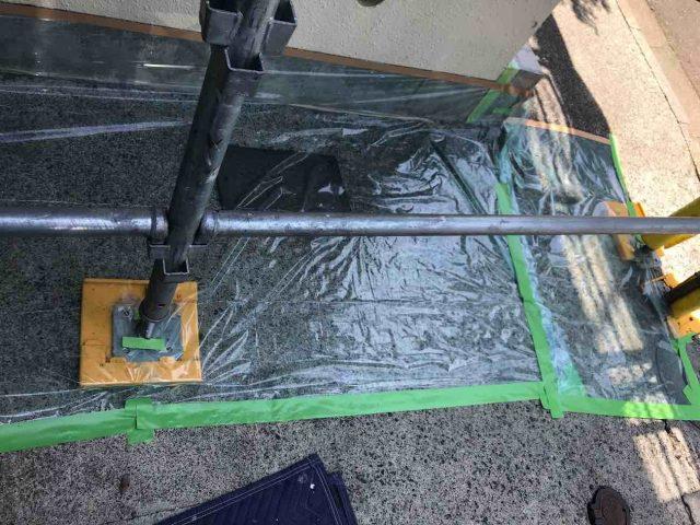 所沢市 小手指元町 屋根カバー 外壁塗装 下塗り 、養生作業 (3)