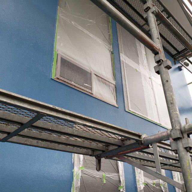所沢市若狭 フッ素樹脂塗料 外壁塗装作業 (6)