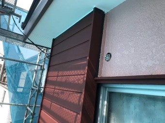 狭山市笹井 屋根カバー、葺き替え工事 戸袋塗装1