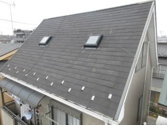 所沢市和ケ原 屋根カバー、天窓撤去、外壁塗装工事 現地調査 屋根の様子