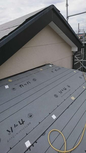 下屋根の下葺き