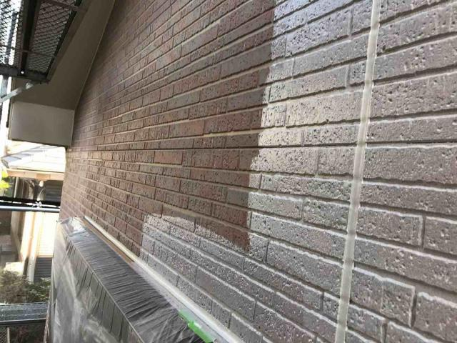 変換 ~ 入間市 屋根カバー 外壁塗装工事 ガイソーウォールタフネスシリコンⅡ施工 (4)
