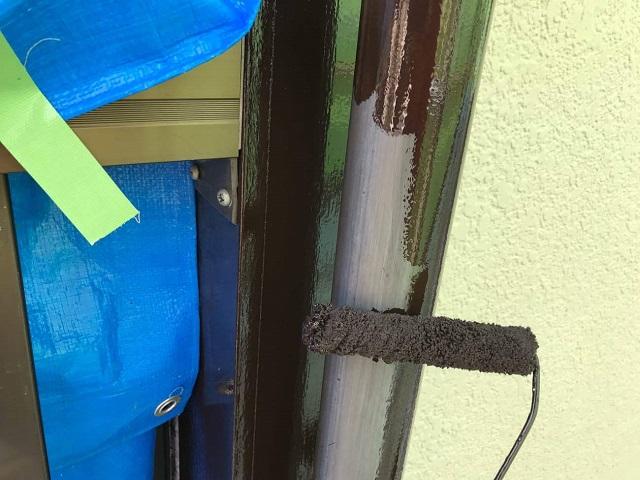所沢市若狭 屋根葺き替え・カバー工事 付帯部塗装 雨樋塗装作業