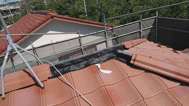 東京都東大和市 屋根葺き替え、外壁塗装工事 屋根材ROOGA 施工3