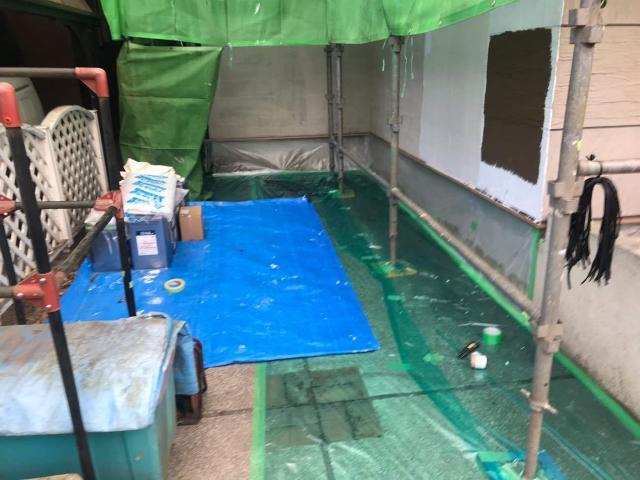 変換 ~ 飯能市 屋根カバー工事 外壁塗装工事 養生作業 (2)
