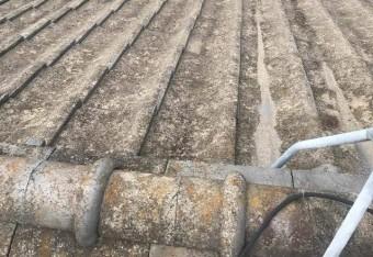 既存屋根セメント瓦
