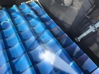 既存屋根高圧洗浄