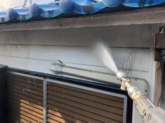 既存外壁高圧洗浄