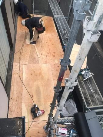 所沢市松郷 セキスイかわらU葺き替え 野地板施工