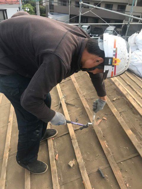所沢けやき台 屋根解体 瓦桟