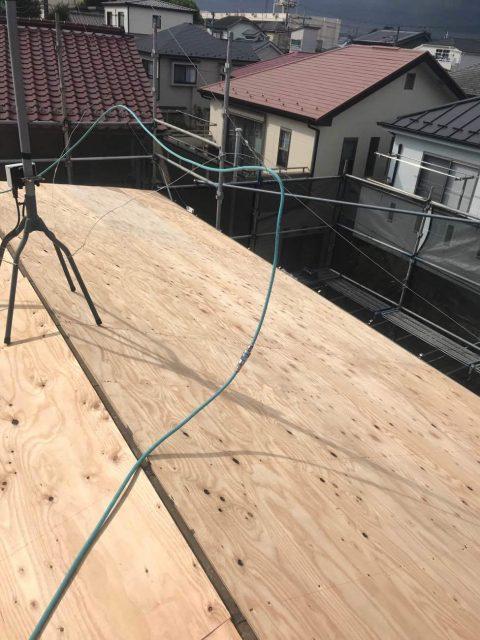 所沢けやき台 屋根下葺き 野地板増し張り