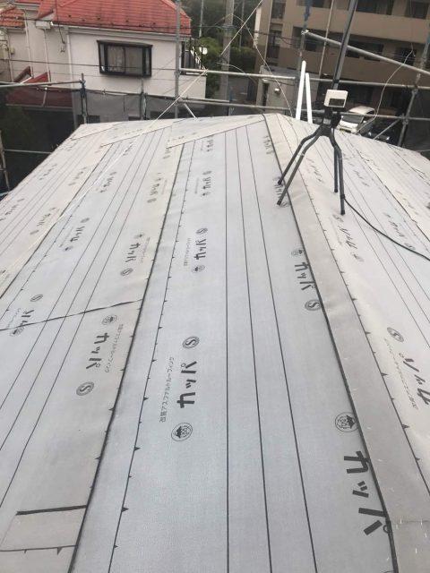 所沢けやき台 屋根下葺き ルーフィング