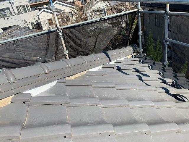 入間市東藤沢の瓦屋根のしっくい工事のご相談