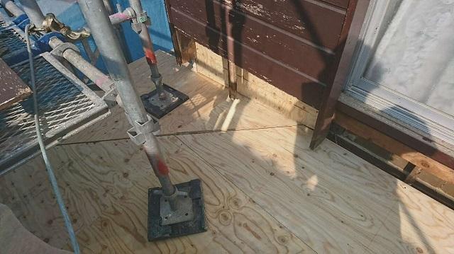 野地板貼り 施工