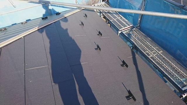 狭山市笹井 屋根カバー、葺き替え工事 外壁塗装 スーパーガルテクト施工2