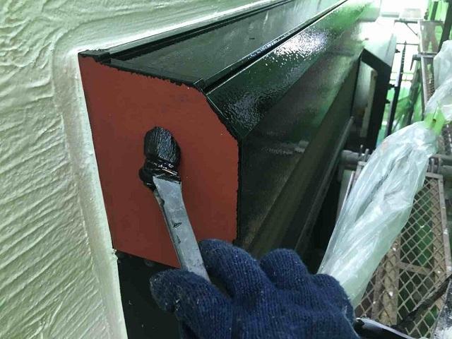 東京都 東村山市 屋根カバー工事 外壁塗装作業 付帯部塗装 シャッターボックス