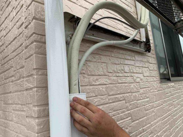 入間市 屋根、外壁塗装工事 エアコンカバー取付 (11)