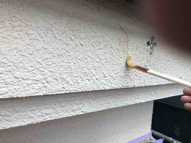 入間市東藤沢 外壁塗装 クラック補修