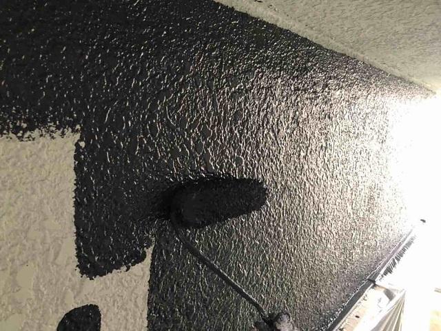 所沢市 北所沢 フッ素樹脂塗料による外壁塗装 中塗り