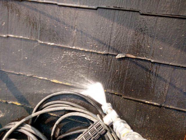 所沢市東所沢 屋根葺き替え、外壁塗装 高圧洗浄作業 (2)