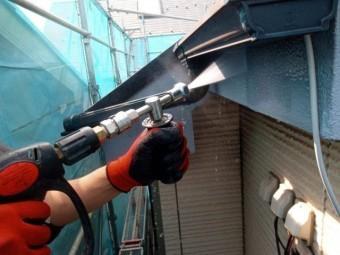 所沢市東所沢 屋根葺き替え、外壁塗装 高圧洗浄作業 (4)