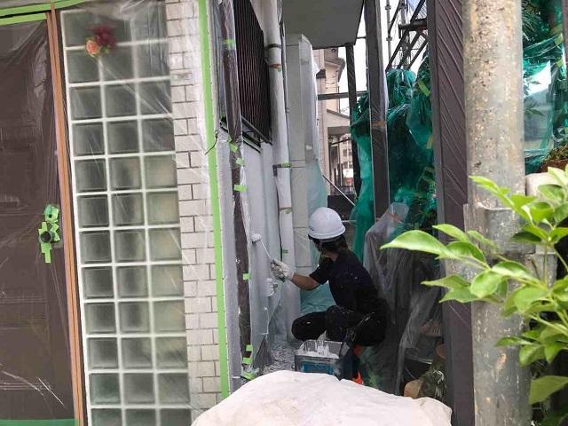 東京都 武蔵村山市 外壁塗装作業