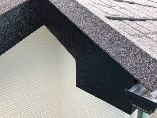 所沢市東所沢 屋根カバー、外壁塗装工事 付帯部塗装 破風、霧除け、雨樋塗装工事 (3)