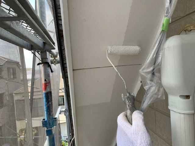 所沢市和ケ原 屋根カバー、天窓撤去、外壁塗装工事 軒天塗装