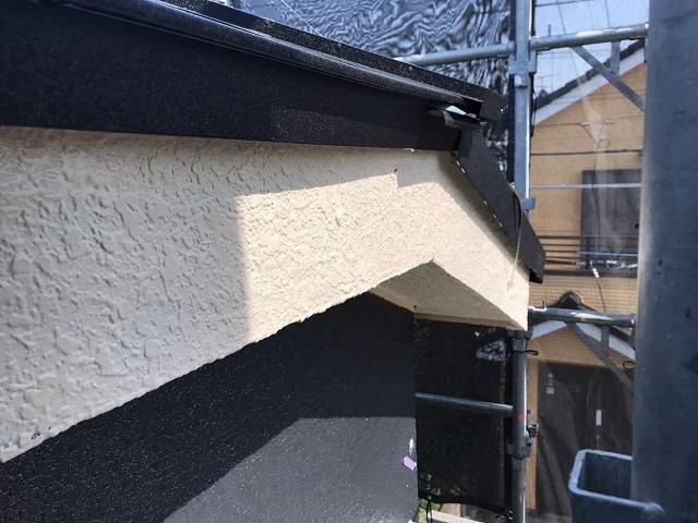 所沢市 北所沢 外壁塗装 破風塗装作業