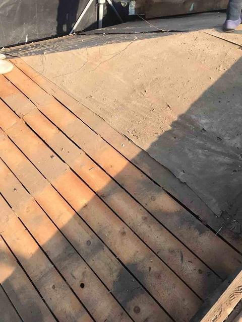 所沢市 北所沢 屋根葺替え 瓦屋根剥がし 防水ルーフィングシート施工前