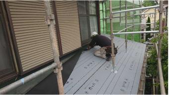 変換 ~ 入間市 屋根カバー 外壁塗装 下葺き