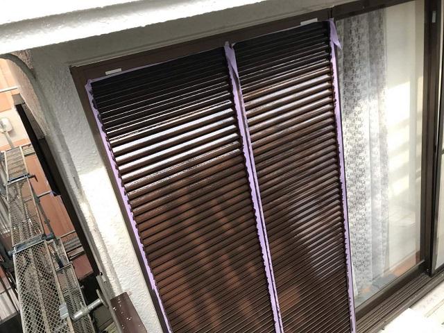 所沢市北野南 屋根カバー、外壁塗装工事 雨戸塗装2