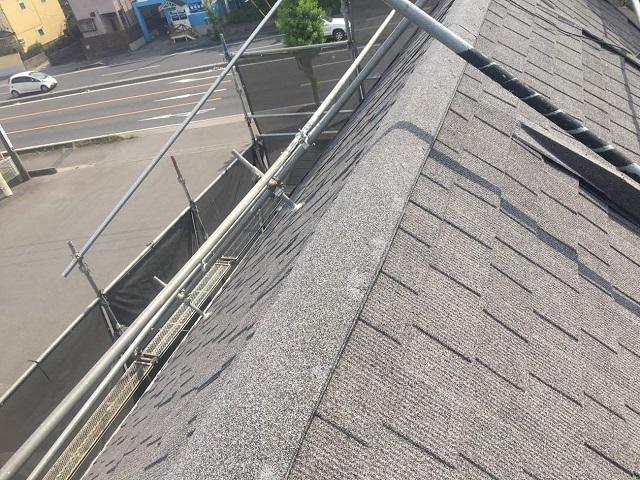 所沢市和ケ原 屋根カバー、天窓撤去、外壁塗装工事 屋根カバー工事 軽量屋根材セネター施工後