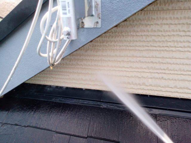 所沢市東所沢 屋根葺き替え、外壁塗装 高圧洗浄作業 (1)