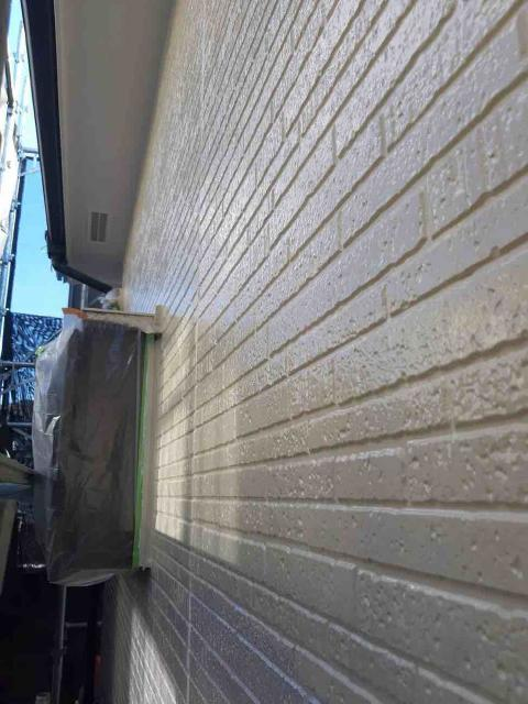 変換 ~ 入間市 屋根カバー 外壁塗装工事 ガイソーウォールタフネスシリコンⅡ施工 (8)