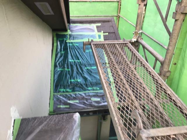 変換 ~ 飯能市 屋根カバー工事 外壁塗装工事 養生作業 (1)