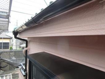 狭山市広瀬台 屋根・外壁塗装 付帯部 庇・雨樋塗装後