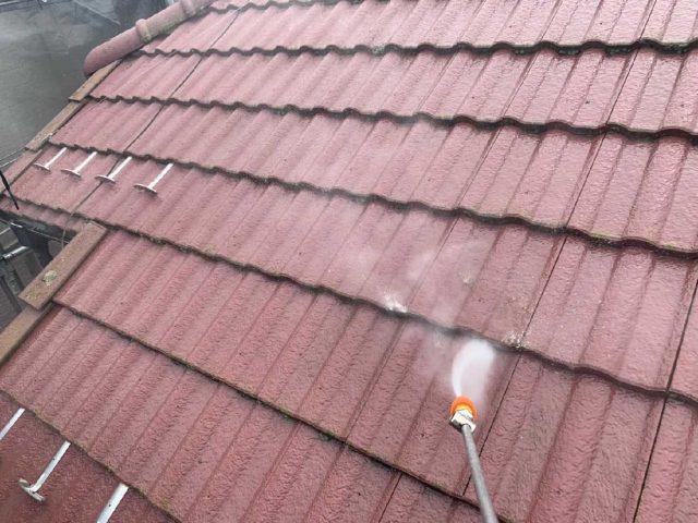 狭山市広瀬台 屋根・外壁塗装 高圧洗浄作業 (2)