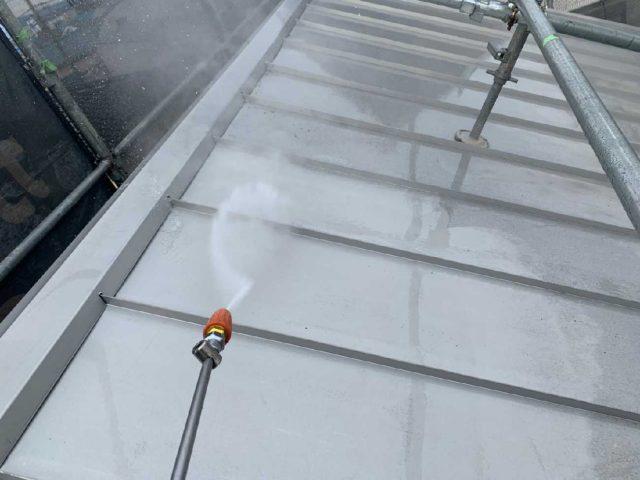 所沢市若狭 屋根・外壁塗装 高圧洗浄作業 (7)