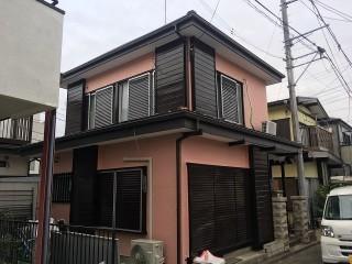 狭山市笹井 屋根カバー、葺き替え工事 外壁塗装 施工後