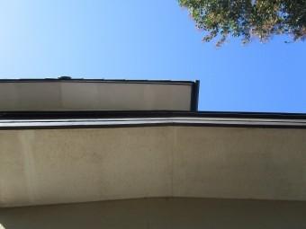所沢市北中 セキスイかわらU屋根 葺き替え工事 現地調査 軒天の劣化